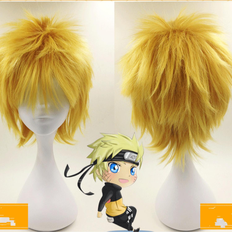 Naruto Uzumaki Naruto Short Full Styled Cosplay Wig Free Shipping 18 99 Cosplay Wigs Wigs Cheap Cosplay Wigs