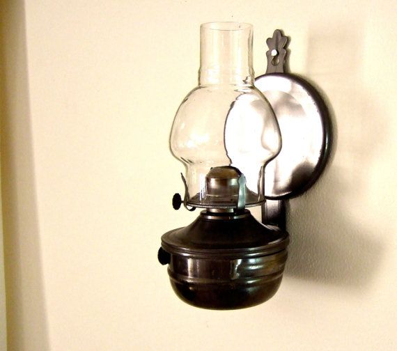 Lamplight Farms Colonial Wall Mounted Oil Lamp Rustic Wall