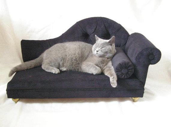Velvet Sofa Real Bed For Cat Or Dog