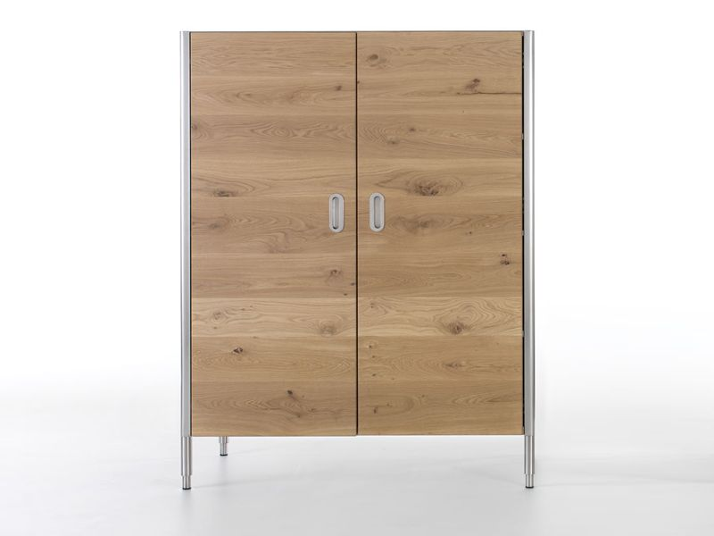 Wooden kitchen cabinet with doors LIBERI IN CUCINA | Kitchen cabinet with doors - ALPES-INOX