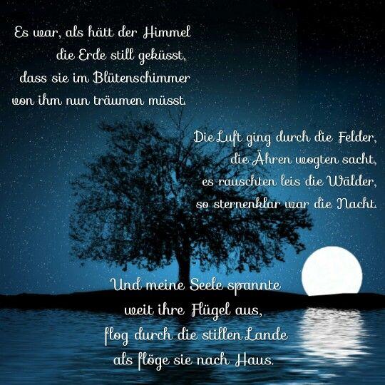 Mondnacht Von Joseph V Eichendorff Zitate Mondnacht