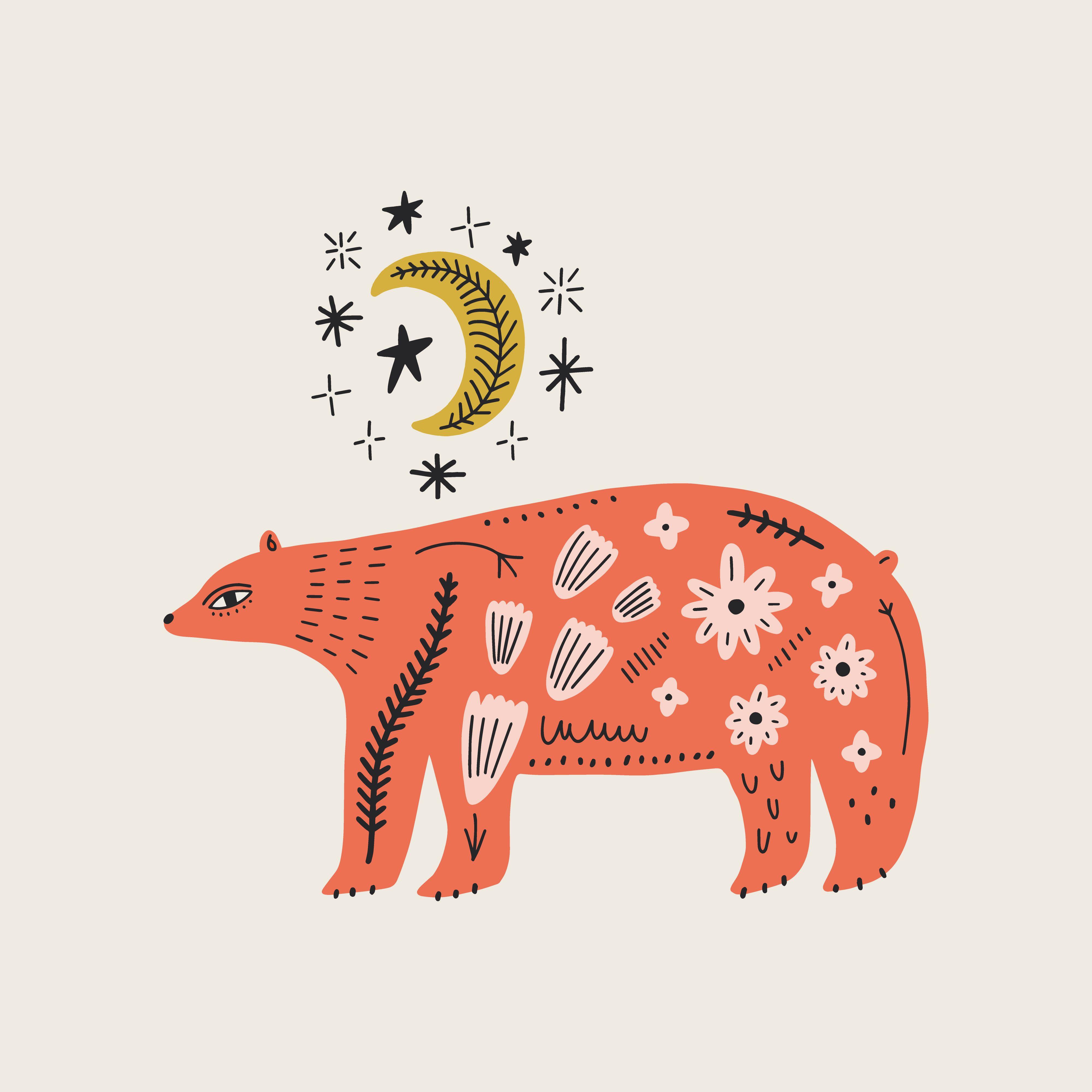 Scandinavian Ornate Animals Bundle In 2020 Folk Illustration Scandinavian Folk Art Text Art