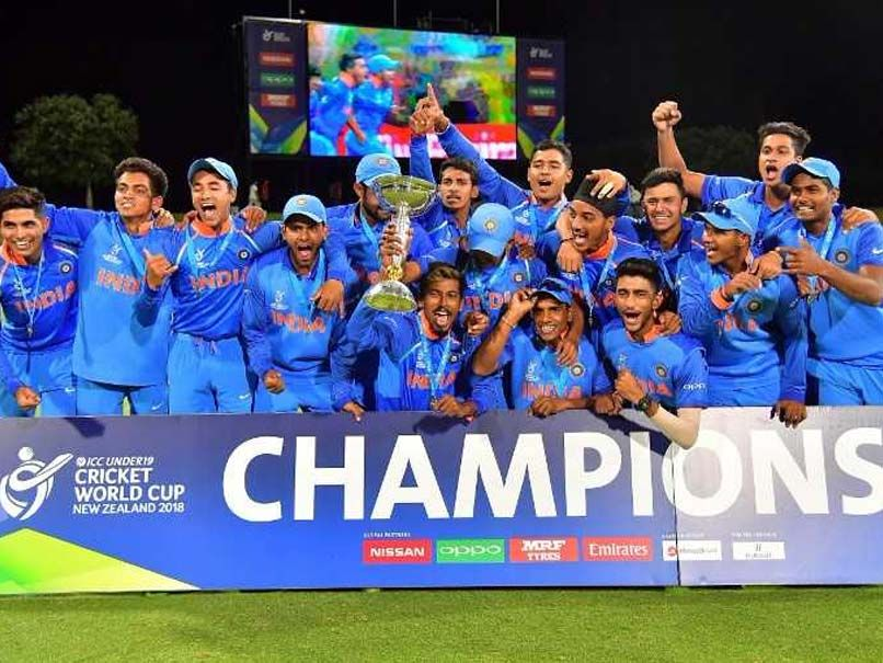 Watch Virat Kohli Team Hail Victorious Under 19 World Cup Winners World Cup Teams World Cup Winners World Cricket