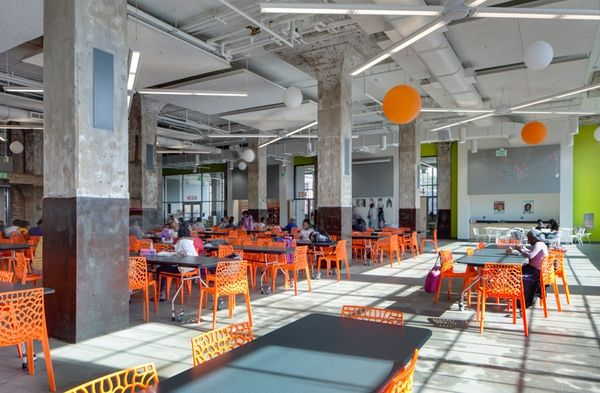 Baltimore Design School By Ziger Snead Architects Dining Commons