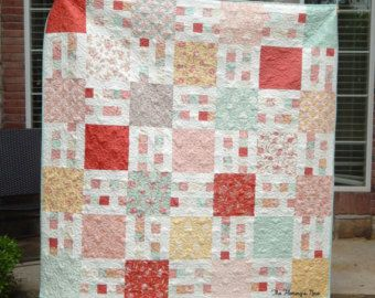 Picket Fence, Quilt Pattern, PDF, Easy, Layer Cake, Yardage ... : layer cake friendly quilt patterns - Adamdwight.com