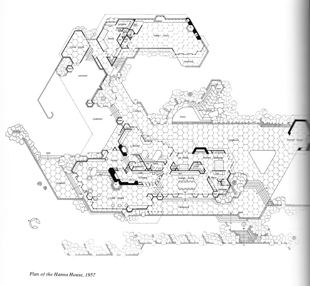 Wright Chat :: View topic - Tracing the designs of 4 basic chairs    Hexagonal architecture, Wright, Hanna house