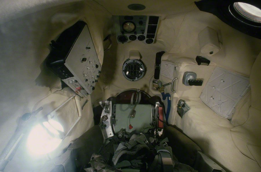 Interior of the Soviet Vostok Space Capsule manned by Yuri ...