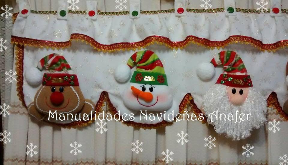 Adorna tus cortinas esta Navidad! Hermosa cenefa elaborada en paño