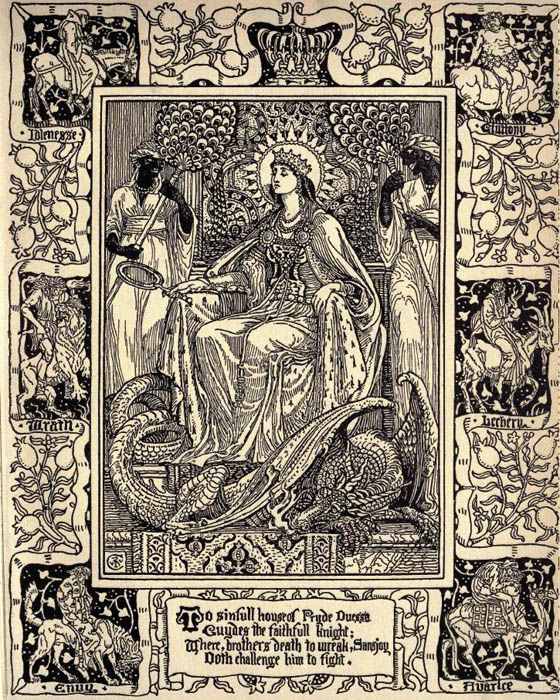 Walter Crane 'The Faerie Queene, Book I' by Edmund Spenser | Walter crane, Art, Art inspiration