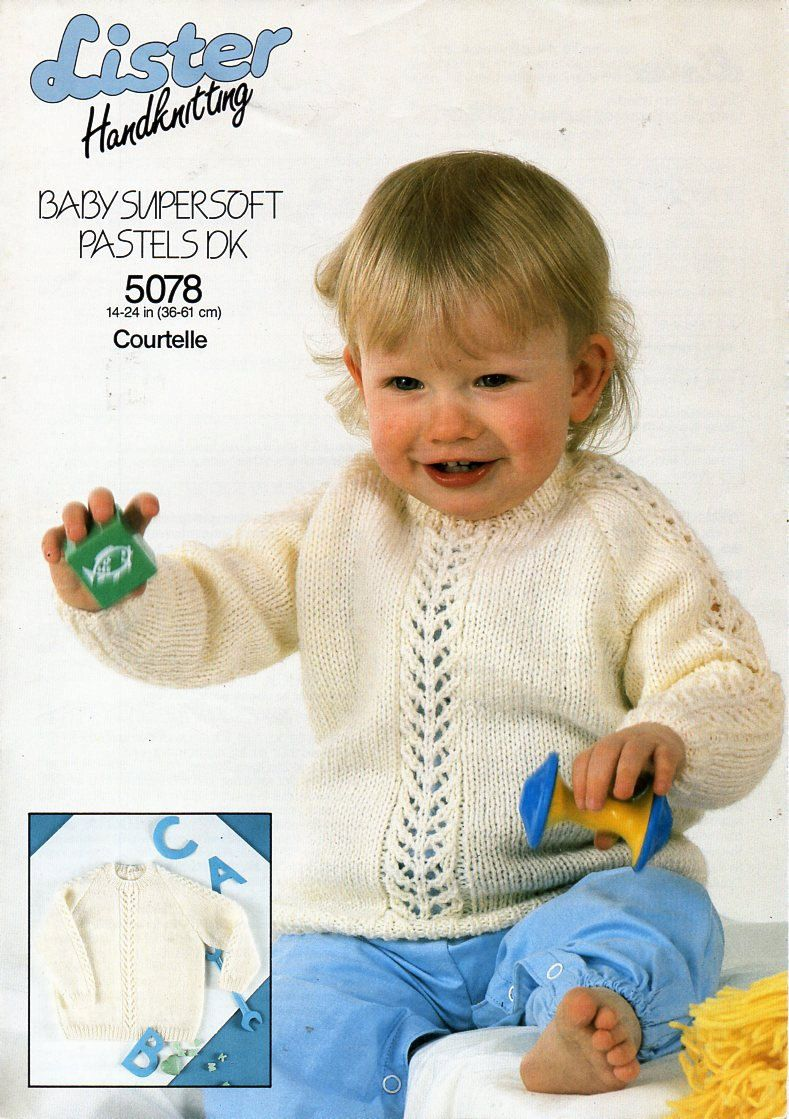 32d2ef8a5f52 baby sweater knitting pattern pdf download DK baby lace panel jumper ...