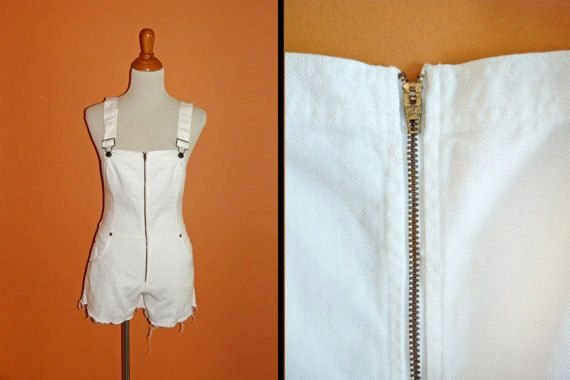 LEVIS Overall Shorts / 1970s Size Small / by JeezumCrowVintage, $109.99