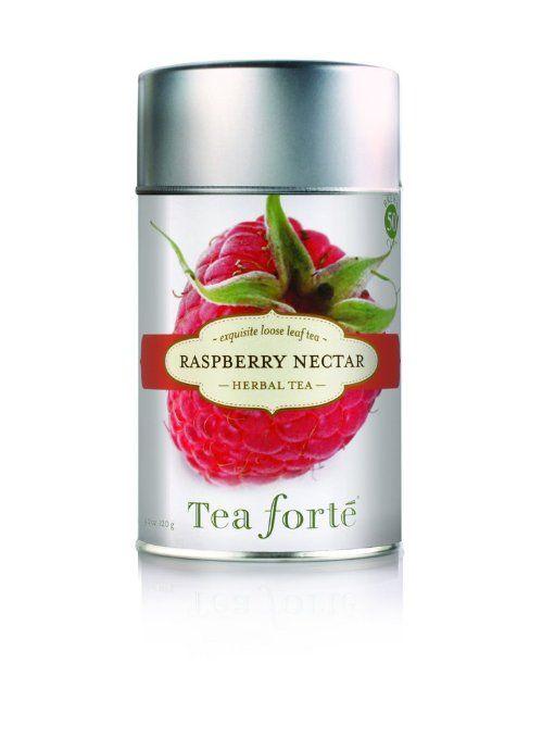 Tea Forte Loose Leaf Tea Canister-Raspberry Nectar: Amazon.com: Grocery & Gourmet Food