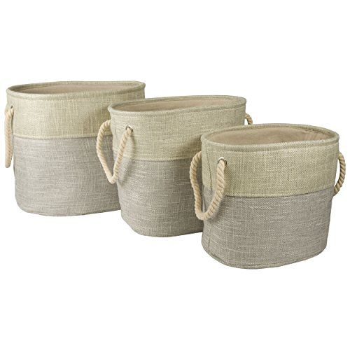 Open Top Nested Storage Bins (Set Of 3) (Grey) Sheffield Home Http