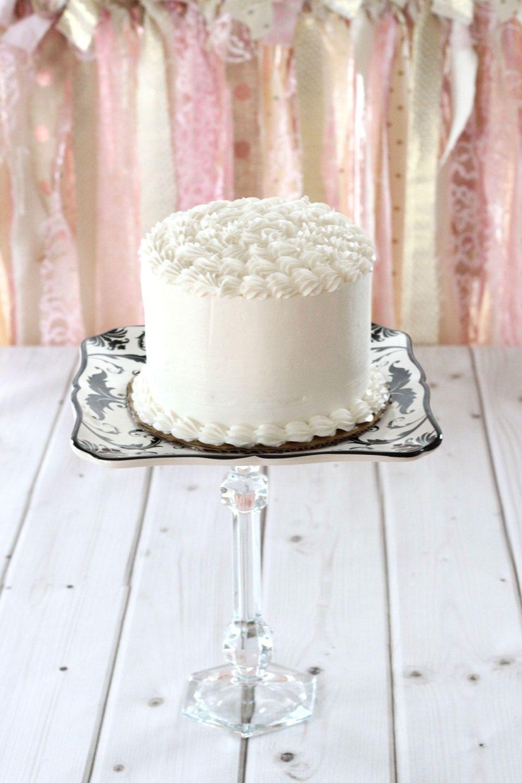Cake Plate Holder Cupcake Wedding Cake Vintage Plate Pedestal Stand ...