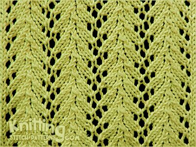 Vine lace is a simple four-row lace pattern and is my current ...