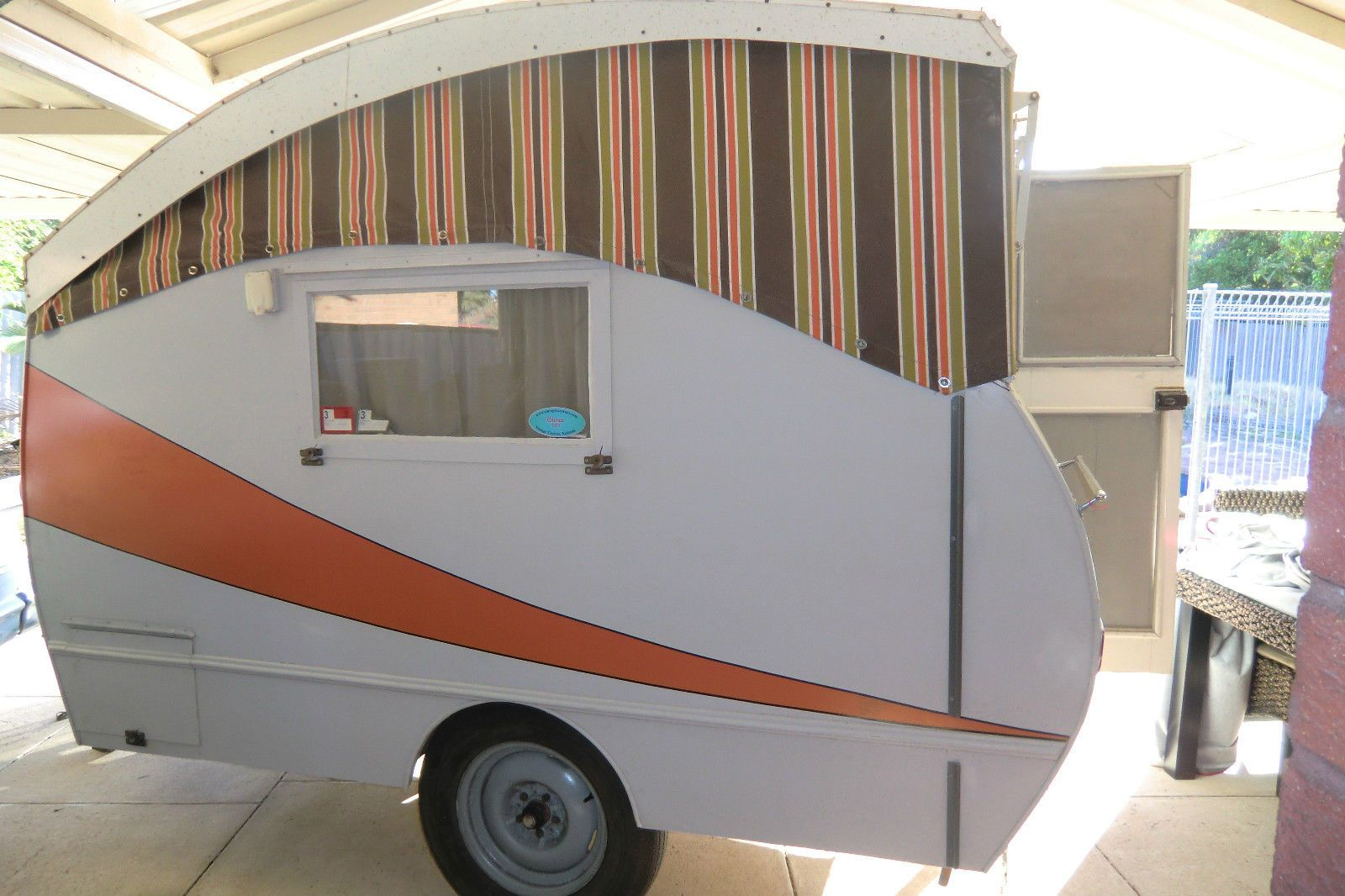 Unusual 1950s Poptop Vintage Caravan For Sale On Ebay Australia