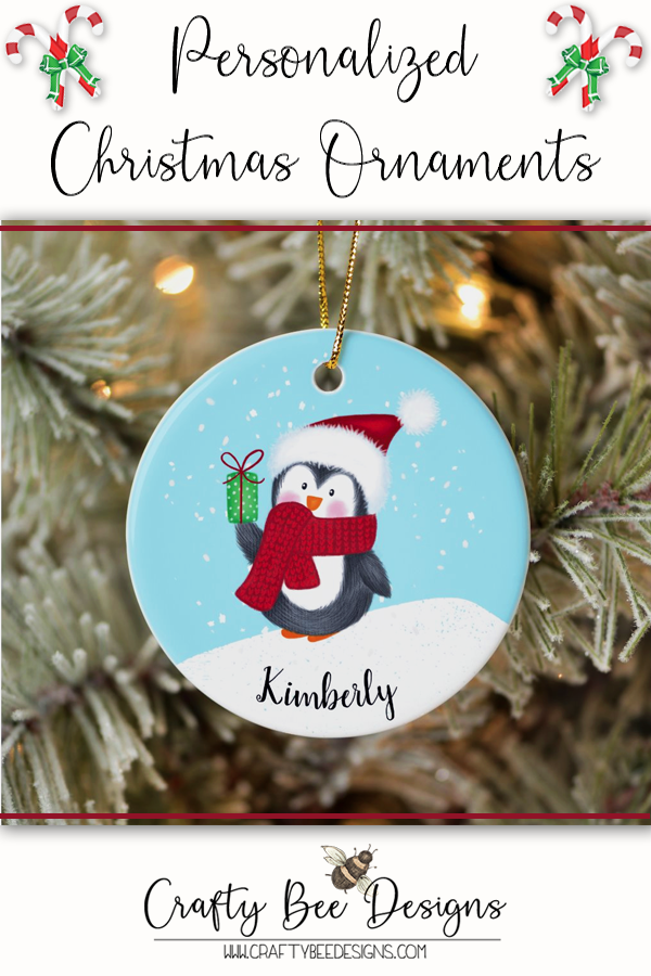 Penguin Ceramic Ornament Zazzle Com In 2020 Christmas Diy Wood Christmas Ornaments Personalized Christmas Ornaments