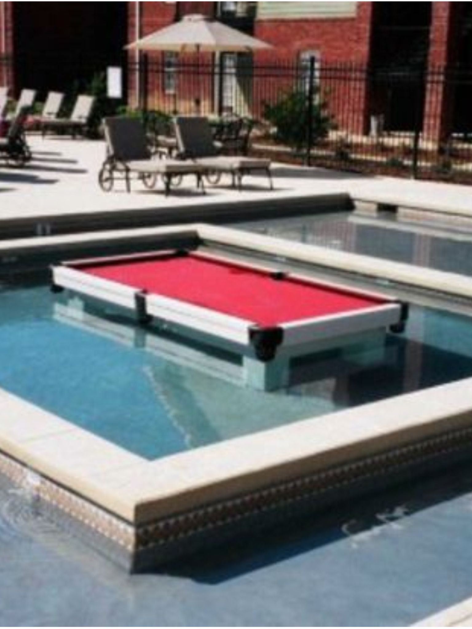 Superior Pool Table Inside A Pool