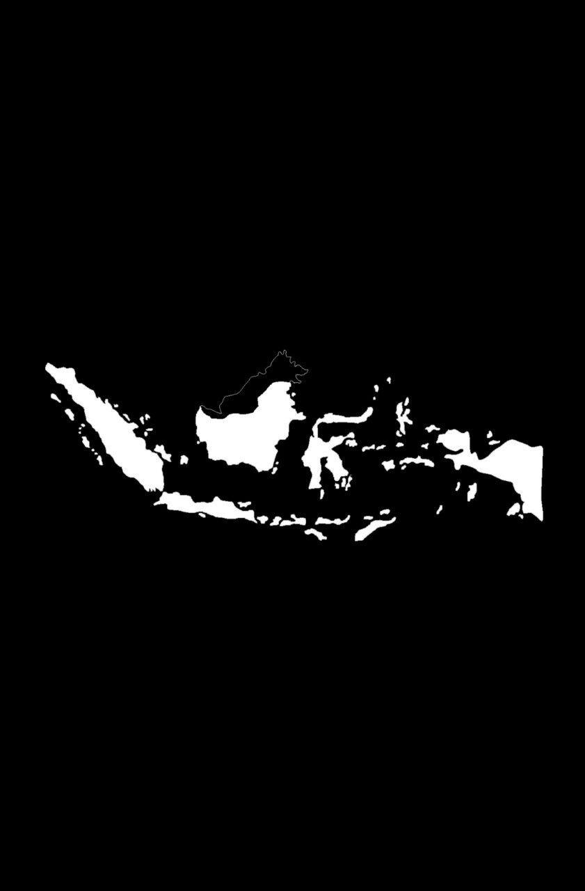 Peta Indonesia Ilustrasi Grafis Seni Gelap Wallpaper Ponsel