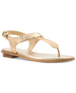 2e6d6fc089d0 Michael Michael Kors Mk Plate Thong Sandals - Gold 5.5M