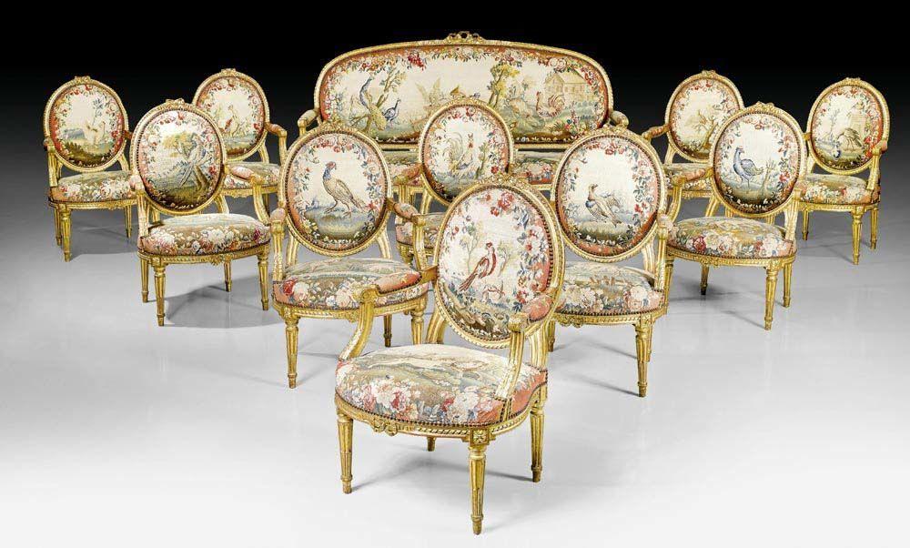 KÖNIGLICHES TAPISSERIE-AMEUBLEMENT, Louis XVI, die Gestelle