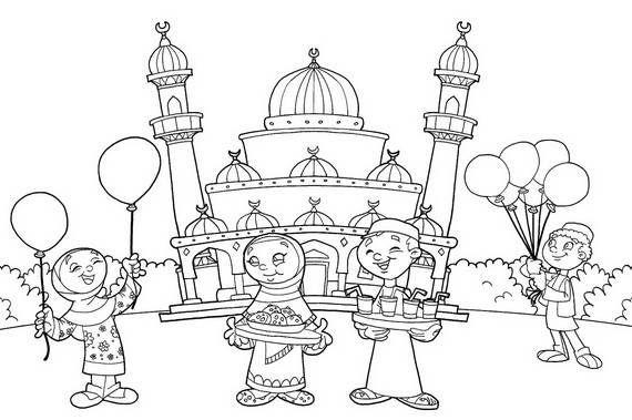 Eid Al-Adha - Islam Coloring Pages Ramadan Kids, Coloring Pages, Coloring  For Kids
