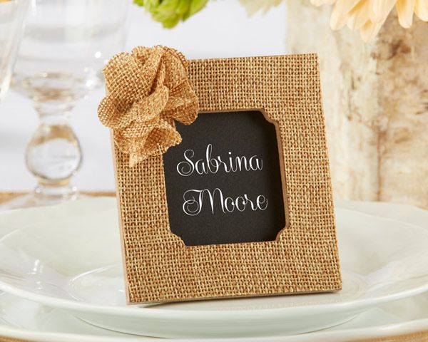 rustic rose burlap frame favors kate aspen 25180na buy at wedding favors unlimited