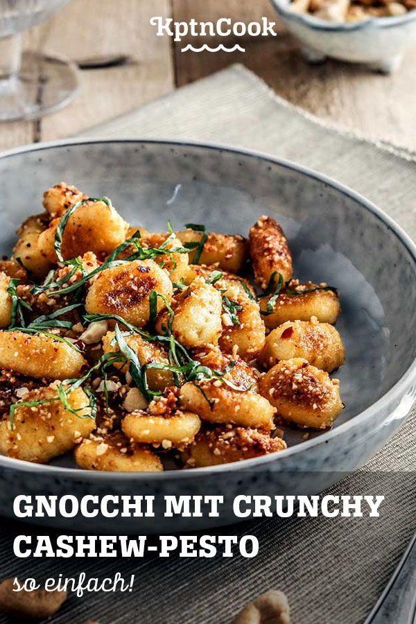 Gnocchi mit Crunchy Cashew-Pesto