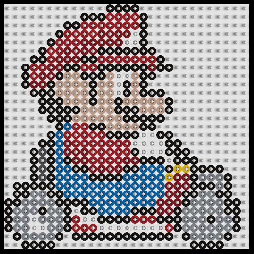 Plantilla Hama Mario Bros Kart Www Tuburbuja Es Hama Beads Mario Hama Beads Disney Hama Beads Patterns