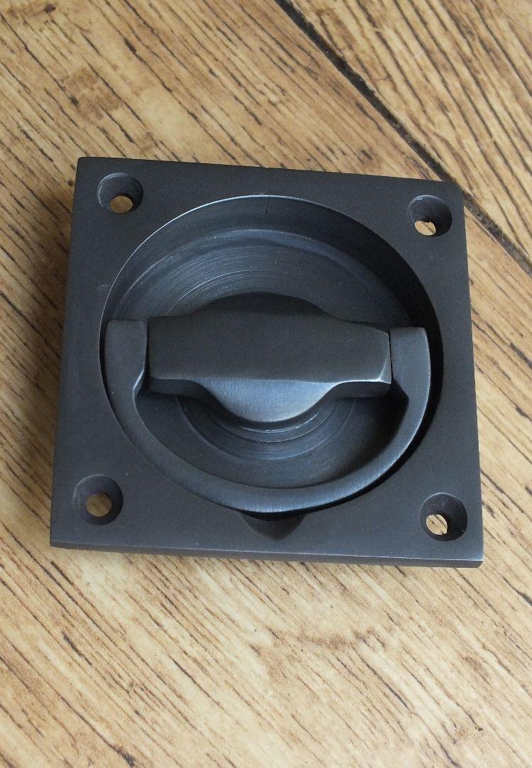 A Beautiful Matte Black Bronze Flush Pocket Door Handle From British Ironmongery They Are Part Of The Flush Doo Pocket Door Handles Pocket Doors Door Handles