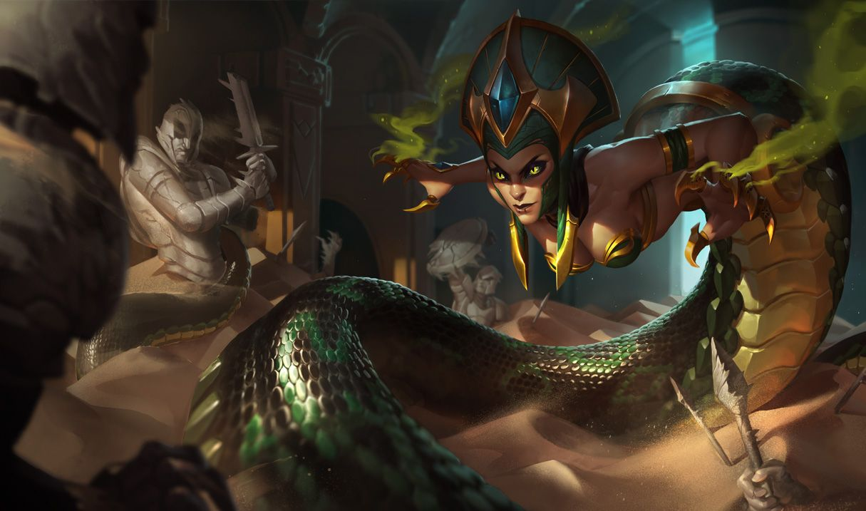 Cassiopeia Splash Art League Of Legends Lol League Of Legends