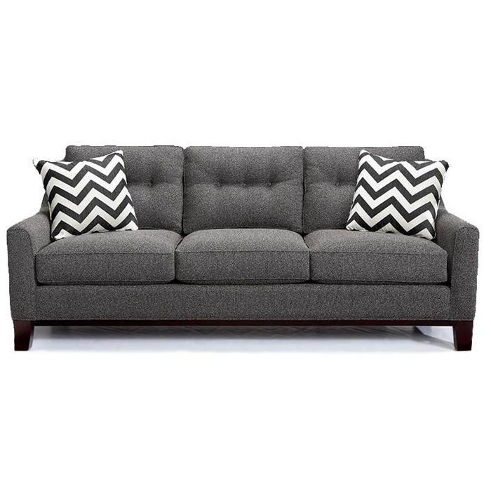 Contemporary Gray Sofa Nebraska Furniture Mart Upholstered