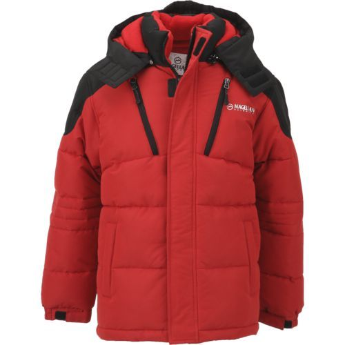 100% authenticated fresh styles huge sale Magellan Outdoors Boys' Puffer Jacket (Red Medium, Size ...