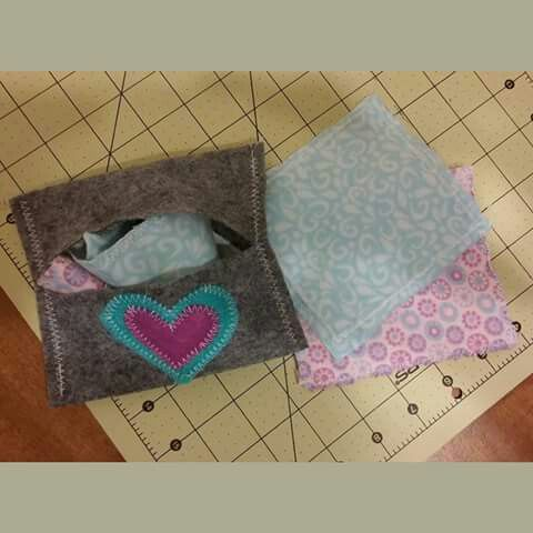 Baby doll cloth wipes.