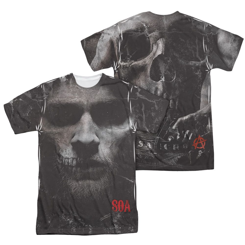 Sons Of Anarchy Soa Jax Skull Sublimation Shirt Front Back Print Sublime Shirt Sons Of Anarchy Anarchy