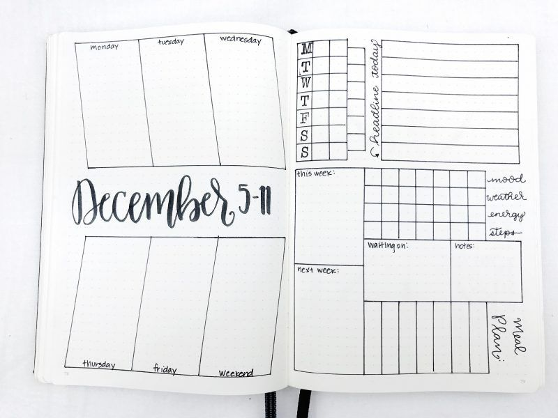 Bullet Journal Weekly Spread December 5-11, 2016 Planner - inspiration 9 free personal financial statement template