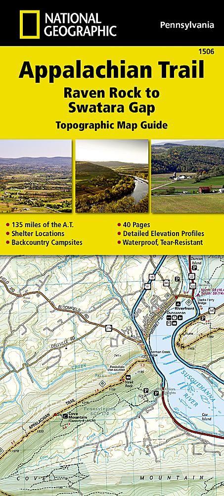 Appalachian Trail Topographic Map Guide Raven Rock To Swatara Gap - Appalachian trail topo map