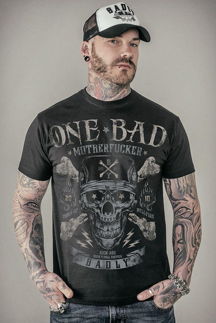 cf6b868ed36c Pánske tričko - Badly - One Bad Motherfucker - Black