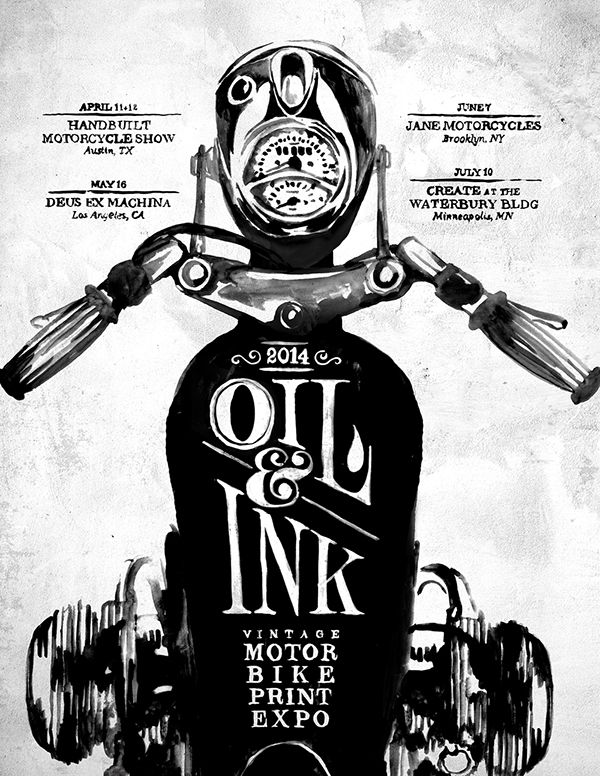 Oil & Ink Expo Print on Behance