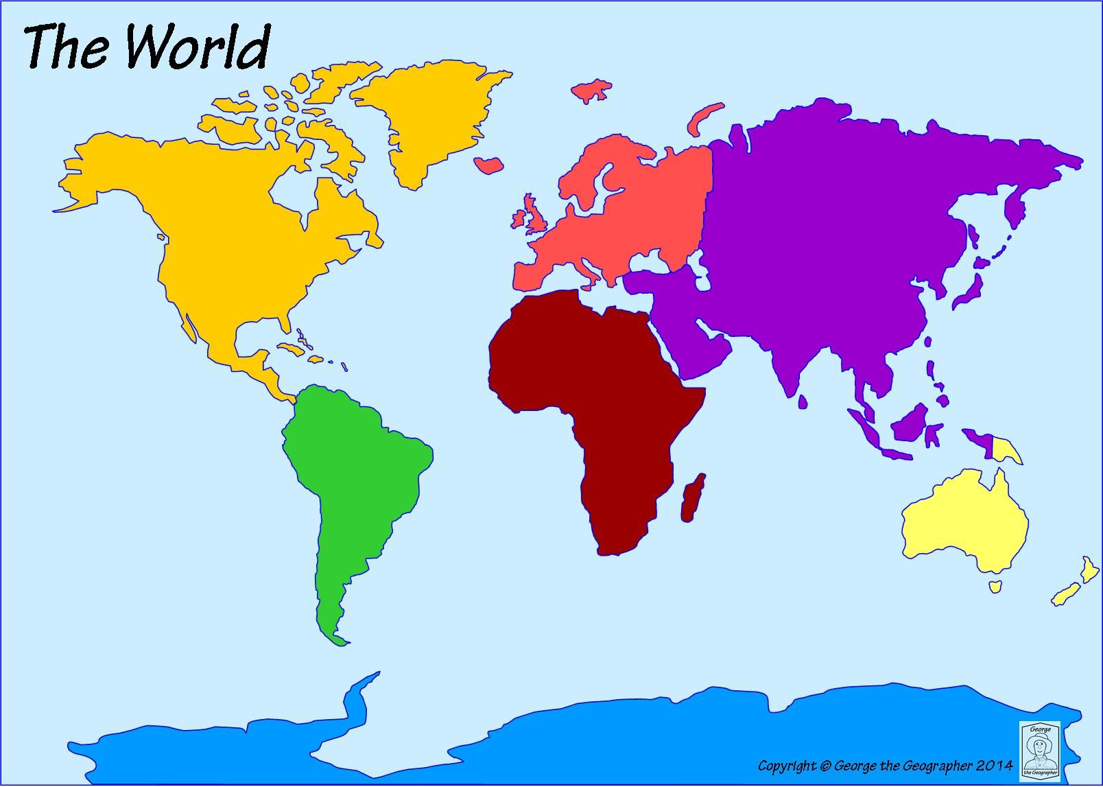 Image result for unlabeled continent map geography pinterest image result for unlabeled continent map gumiabroncs Gallery