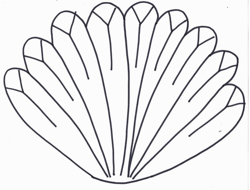 Turkey Feather Coloring Page Turkey Feathers Feather Template