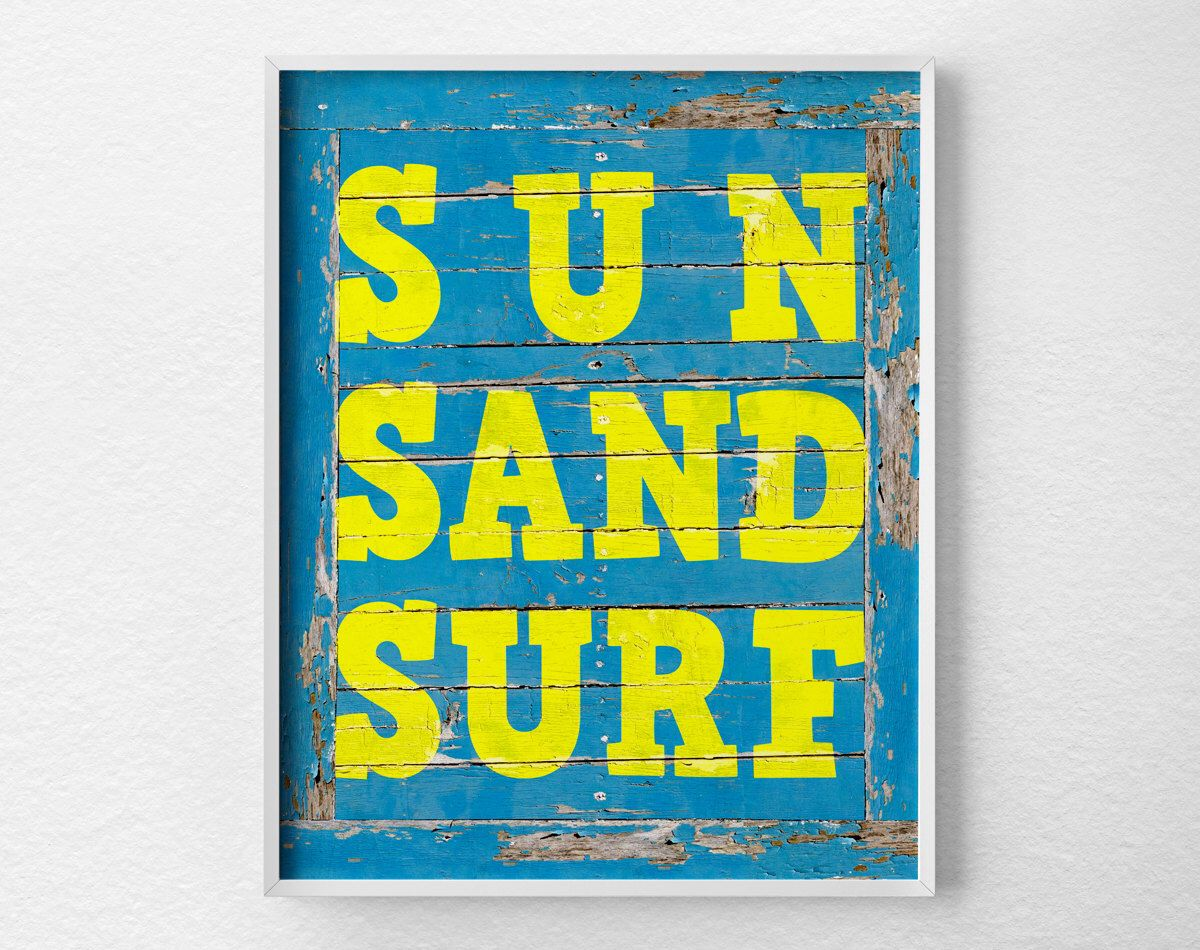 Surf Signs Decor Amazing Surfing Print Beach Art Typography Poster Surfing Art Beach Inspiration Design