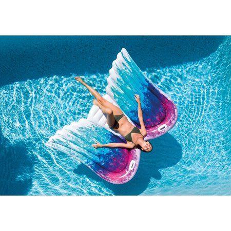 Intex Angel Wings Mat Walmart Com In 2021 Cute Pool Floats Pool Floats Cool Pools