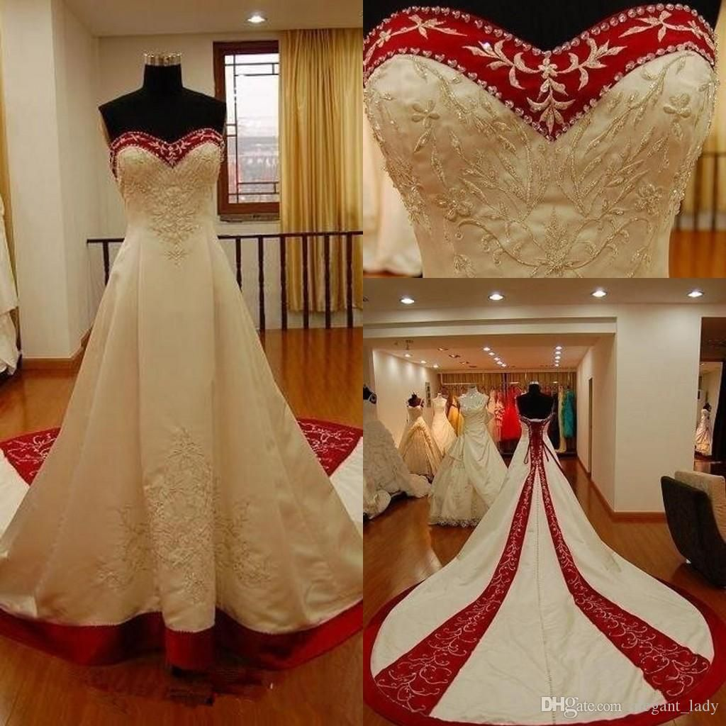 Discountred And White Stain Embroidery Wedding Dresses 2020 Vintage Sweetheart Lace Up Corset Lace Beaded Bride Wedding Gown Vestidos Plus Size From Alegant Lad Wedding Dresses Mermaid Sweetheart Wedding Dresses Long Train [ 1024 x 1024 Pixel ]