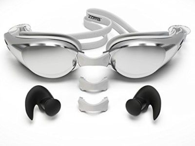 Zoma Swimming Goggles with Anti Fog Technology with Silicone Earplugs, Silver | #external #SwimWear