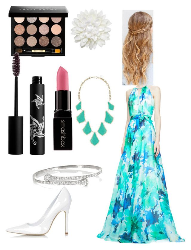 """Lost in the woods in the way to the party"" by be-you-tifle ❤ liked on Polyvore featuring beauty, Carmen Marc Valvo, Topshop, Monki, Bobbi Brown Cosmetics, Rouge Bunny Rouge, Kendra Scott, Gucci and Smashbox"