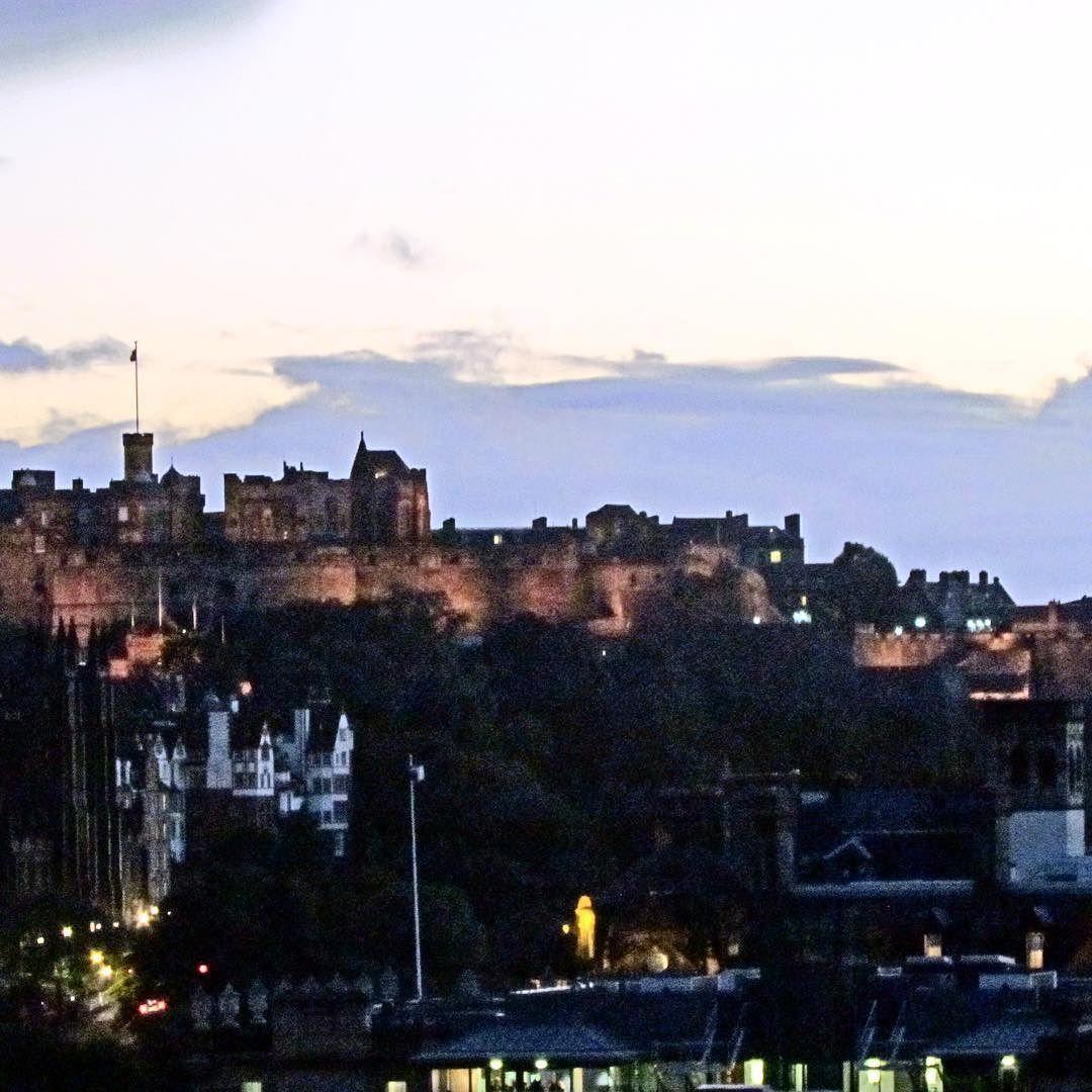 Edinburgh Castle viewed from Carlton Hill. #building #travel #capital #landscape #scotland by brian.bolen