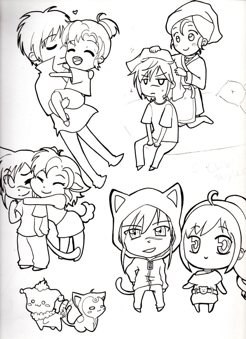 5 Different Chibi Styles *unfinished* by Mimi D Chibi