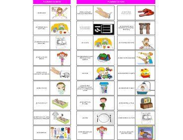 Plus adapté Planning routine en pictogramme à télécharger ici | Enfants XN-92