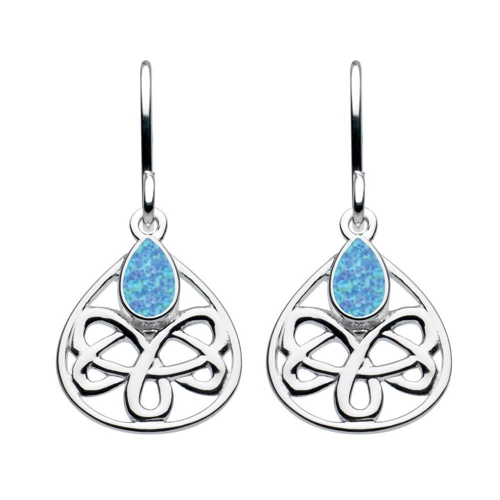 Kit Heath Celtic Sterling Silver Blue Opal Earrings Blue Opal Earrings Opal Earrings Heritage Jewellery